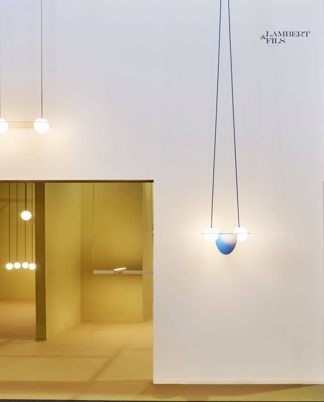 Euroluce salone del mobile lambert fils the caper worked and the museum like space helped elevate the lighting fixtures to a level of admiration usually reserved for priceless artefacts and arubaitofo Image collections